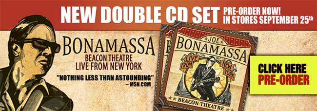 Preorder Joe Bonamassa's Live at the Beacon Theatre Double Disc